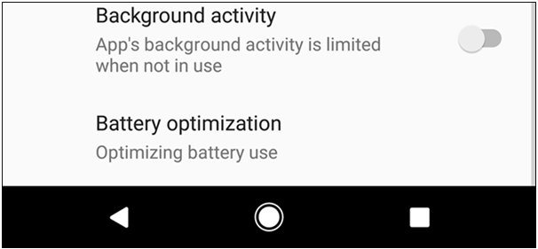 Background acitvity drains battery