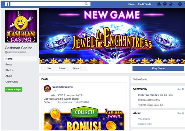 Cashman Casino play at Facebook