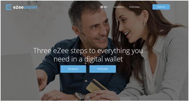 Ezee wallet homepage