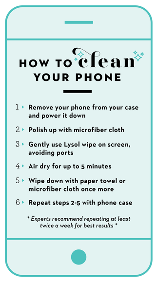 How to clean your phone