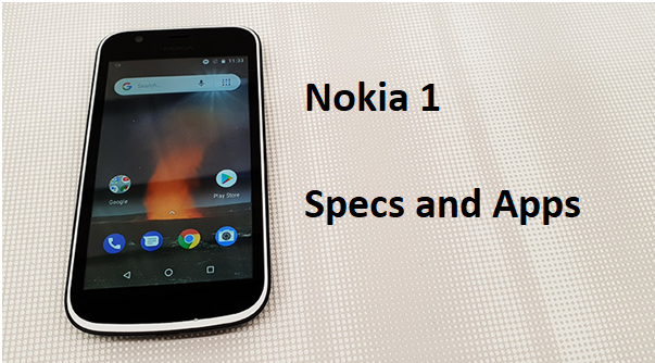Nokia 1 Specs and Apps