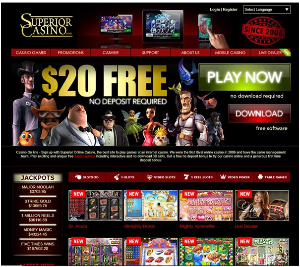 Superior casino pokies to play with mobile