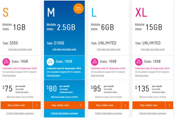 Telstra Plans for Microsoft Lumia 950