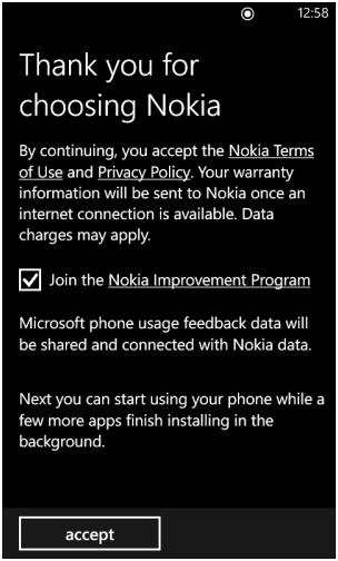 Thankyou for choosing Nokia