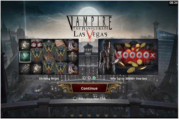 Vampier the masquerade las vegas pokies game play