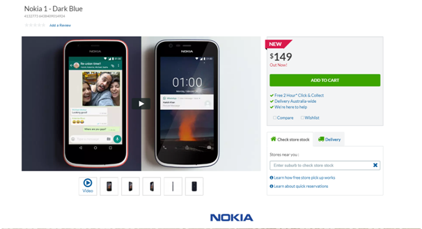 Where to buy Nokia 1 in Australia