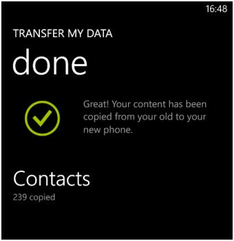 Data Transfer Done